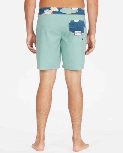 """6 All Day Pigment Pro Boardshorts 17"""" Green ABYBS00110 Billabong"""
