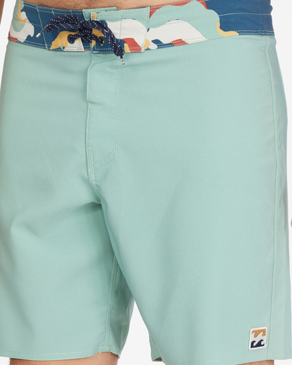 """7 All Day Pigment Pro Boardshorts 17"""" Green ABYBS00110 Billabong"""
