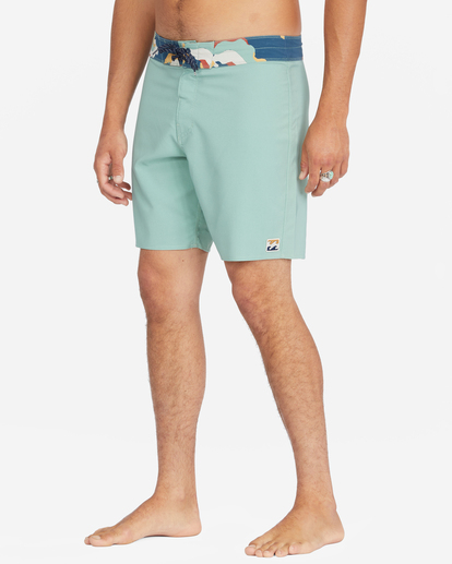"""5 All Day Pigment Pro Boardshorts 17"""" Green ABYBS00110 Billabong"""
