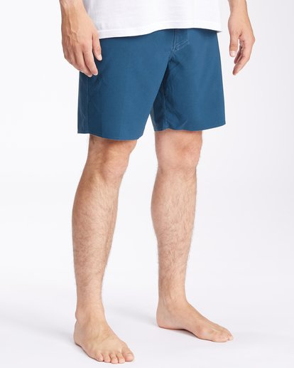 """4 All Day Pigment Pro Boardshorts 17"""" Blue ABYBS00110 Billabong"""