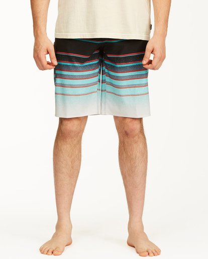 "2 All Day Stripe Pro Boardshorts 21"" Blue ABYBS00111 Billabong"