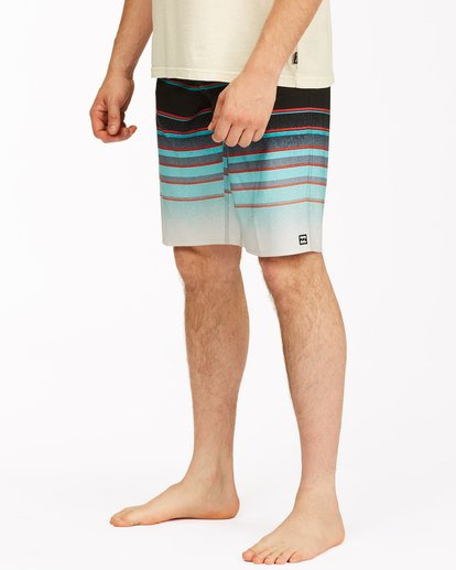 "3 All Day Stripe Pro Boardshorts 21"" Blue ABYBS00111 Billabong"