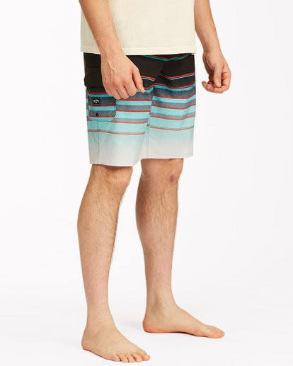 "4 All Day Stripe Pro Boardshorts 21"" Blue ABYBS00111 Billabong"