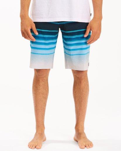 "2 All Day Stripe Pro Boardshorts 21"" Blue ABYBS00111 Billabong"
