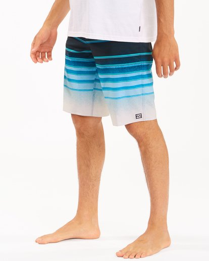 "3 All Day Stripe Pro Boardshorts 21"" Blue ABYBS00111 Billabong"