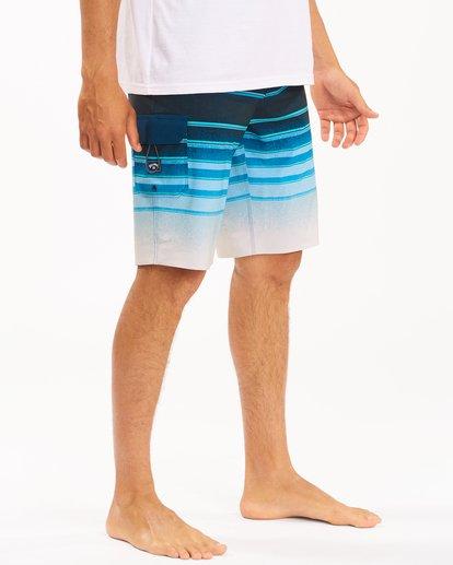 "4 All Day Stripe Pro Boardshorts 21"" Blue ABYBS00111 Billabong"