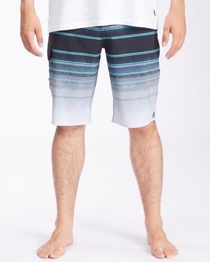 "2 All Day Stripe Pro Boardshorts 21"" Grey ABYBS00111 Billabong"