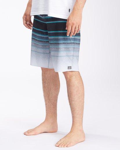 "3 All Day Stripe Pro Boardshorts 21"" Grey ABYBS00111 Billabong"