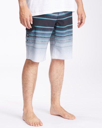 "4 All Day Stripe Pro Boardshorts 21"" Grey ABYBS00111 Billabong"