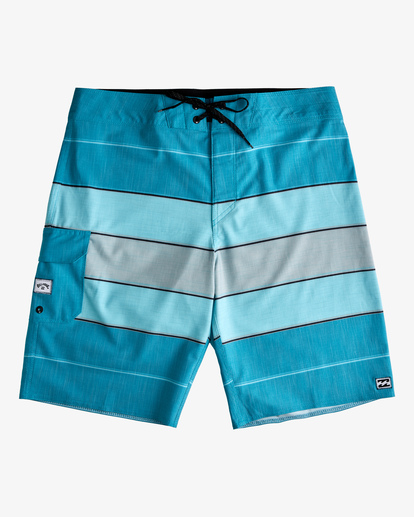 """0 All Day Heather Stripe Pro Boardshorts 20"""" Blue ABYBS00112 Billabong"""