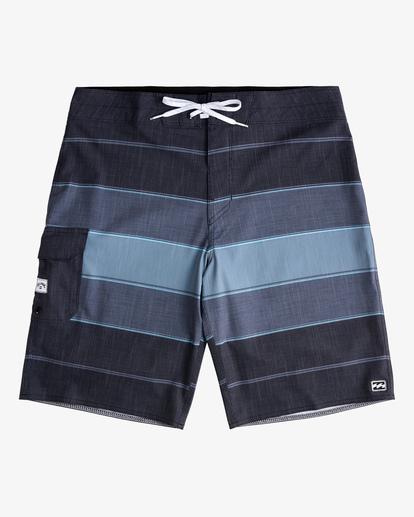 "0 All Day Heather Stripe Pro Boardshorts 20"" Black ABYBS00112 Billabong"