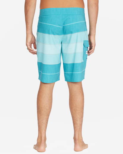 """4 All Day Heather Stripe Pro Boardshorts 20"""" Blue ABYBS00112 Billabong"""