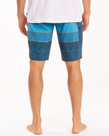 """5 All Day Heather Stripe Pro Boardshorts 20"""" Blue ABYBS00112 Billabong"""