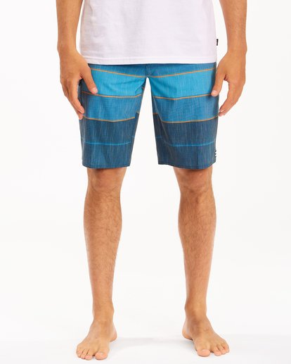 """2 All Day Heather Stripe Pro Boardshorts 20"""" Blue ABYBS00112 Billabong"""