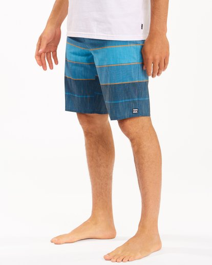 """3 All Day Heather Stripe Pro Boardshorts 20"""" Blue ABYBS00112 Billabong"""