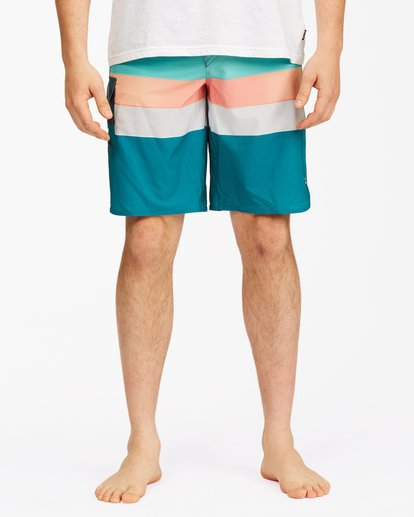 "4 73 Stripe Pro Boardshorts 20"" Blue ABYBS00115 Billabong"