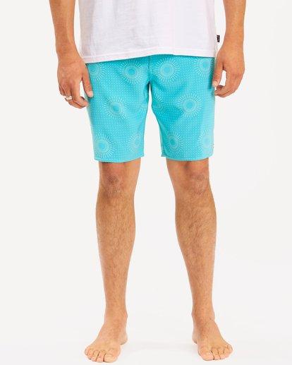"4 Sundays Mini Pro Boardshorts 19"" Blue ABYBS00121 Billabong"