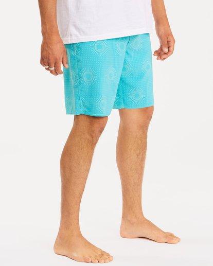 "6 Sundays Mini Pro Boardshorts 19"" Blue ABYBS00121 Billabong"