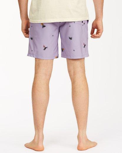 "5 Sundays Layback Boardshorts 17"" Purple ABYBS00123 Billabong"