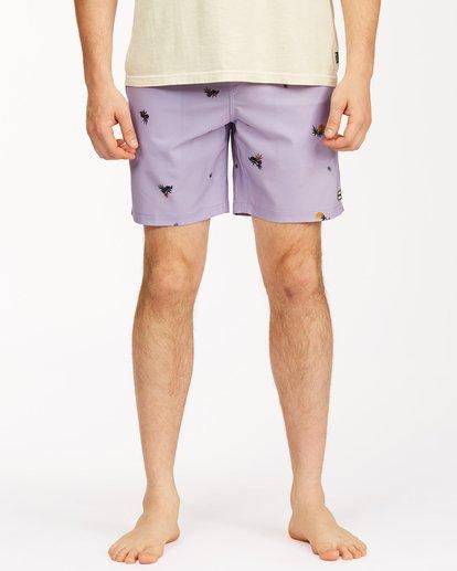 "2 Sundays Layback Boardshorts 17"" Purple ABYBS00123 Billabong"