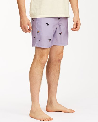 "4 Sundays Layback Boardshorts 17"" Purple ABYBS00123 Billabong"