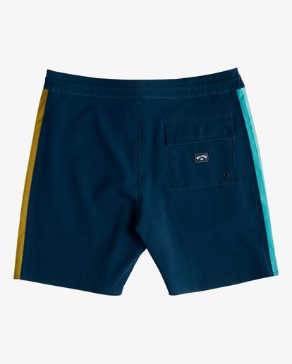 "1 D Bah Lo Tides Boardshorts 17"" Blue ABYBS00126 Billabong"