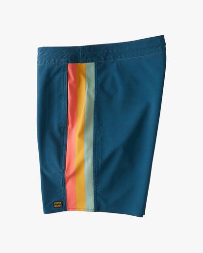 "3 D Bah Lo Tides Boardshorts 17"" Blue ABYBS00126 Billabong"