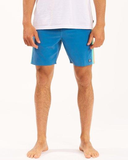 "4 D Bah Lo Tides Boardshorts 17"" Multicolor ABYBS00126 Billabong"