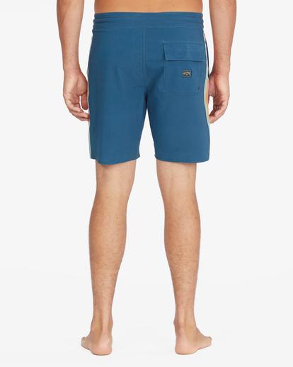 "6 D Bah Lo Tides Boardshorts 17"" Blue ABYBS00126 Billabong"