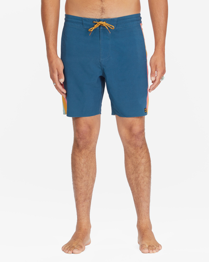 "4 D Bah Lo Tides Boardshorts 17"" Blue ABYBS00126 Billabong"