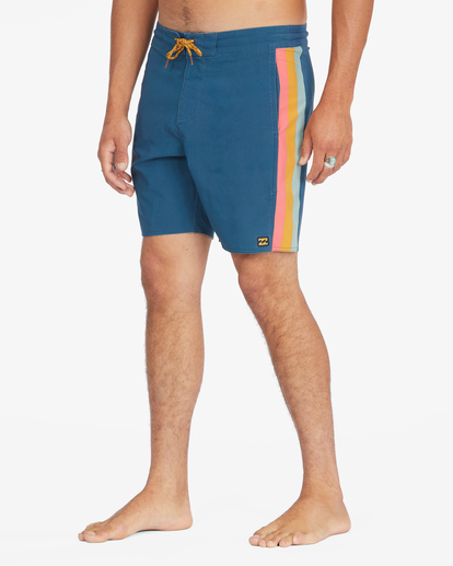 "5 D Bah Lo Tides Boardshorts 17"" Blue ABYBS00126 Billabong"