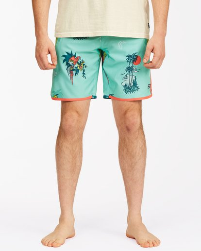 "4 73 Lo Tide Boardshorts 19"" Blue ABYBS00128 Billabong"