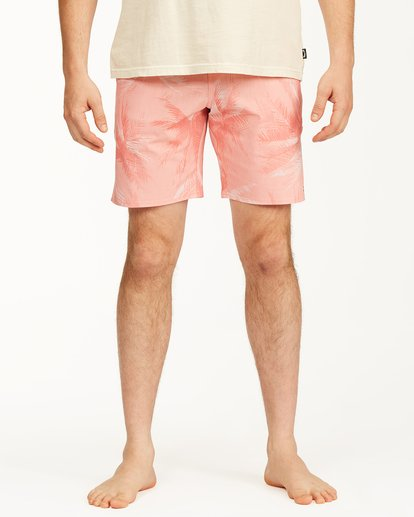 """2 All Day Lo Tides Boardshorts 17"""" White ABYBS00130 Billabong"""