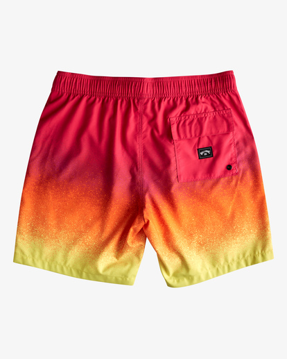 """1 All Day Fade Layback Boardshorts 17"""" Red ABYBS00133 Billabong"""