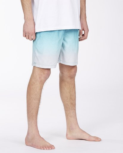 """4 All Day Fade Layback Boardshort 17"""" Blue ABYBS00133 Billabong"""
