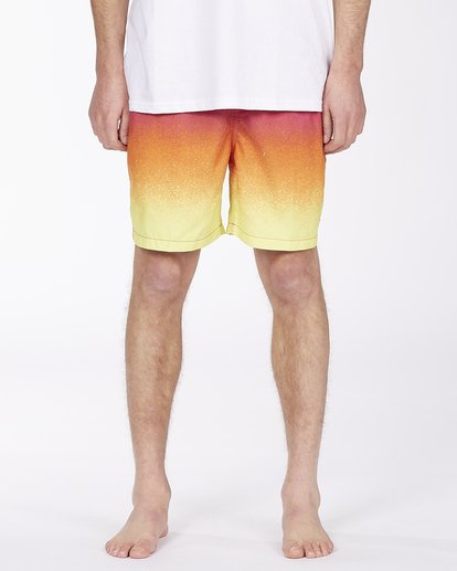 """2 All Day Fade Layback Boardshorts 17"""" Red ABYBS00133 Billabong"""