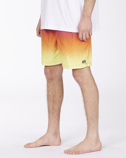 """3 All Day Fade Layback Boardshorts 17"""" Red ABYBS00133 Billabong"""