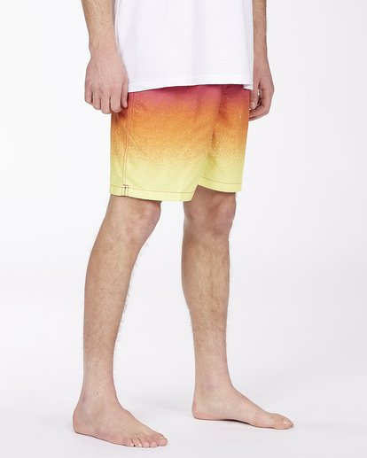 """4 All Day Fade Layback Boardshorts 17"""" Red ABYBS00133 Billabong"""