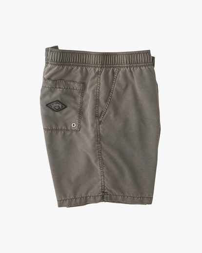 """2 All Day Overdyed Layback Boardshorts 17"""" Black ABYBS00134 Billabong"""