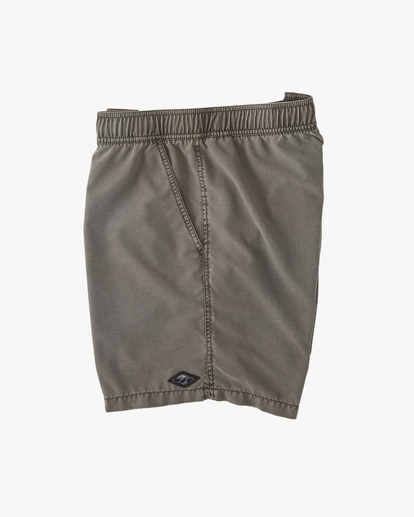 """3 All Day Overdyed Layback Boardshorts 17"""" Black ABYBS00134 Billabong"""
