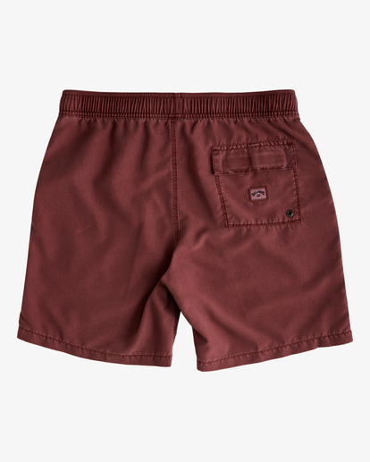 """1 All Day Overdyed Layback Boardshorts 17"""" Red ABYBS00134 Billabong"""