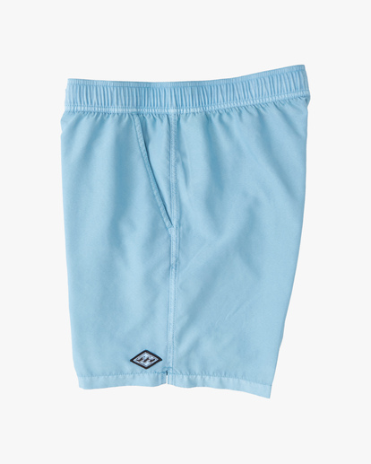 """3 All Day Overdyed Layback Boardshorts 17"""" Blue ABYBS00134 Billabong"""