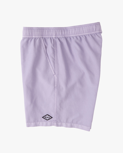 """3 All Day Overdyed Layback Boardshorts 17"""" Purple ABYBS00134 Billabong"""