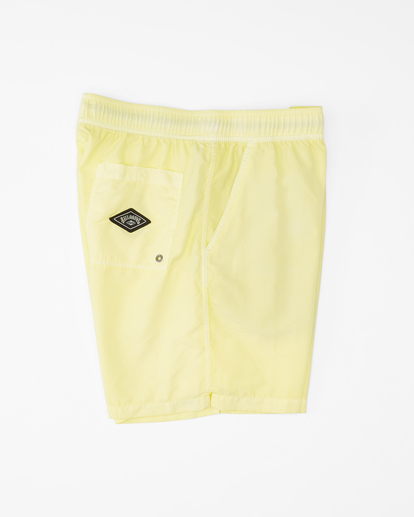 """2 All Day Overdyed Layback Boardshorts 17"""" Yellow ABYBS00134 Billabong"""