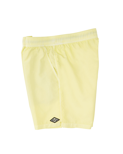 """3 All Day Overdyed Layback Boardshorts 17"""" Yellow ABYBS00134 Billabong"""
