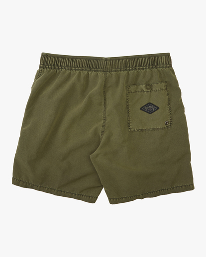 "1 All Day Overdyed Layback Boardshort 17"" Green ABYBS00134 Billabong"