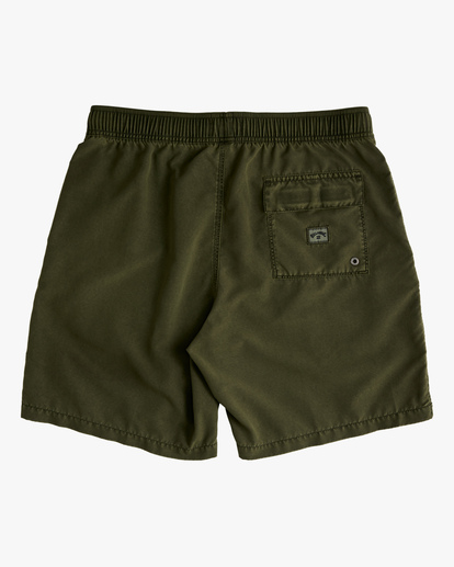 """1 All Day Overdyed Layback Boardshorts 17"""" Green ABYBS00134 Billabong"""