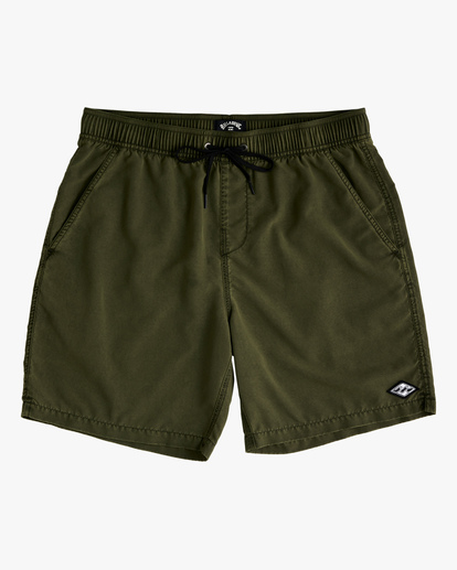 """0 All Day Overdyed Layback Boardshorts 17"""" Green ABYBS00134 Billabong"""