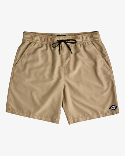 """0 All Day Overdyed Layback Boardshorts 17"""" Brown ABYBS00134 Billabong"""