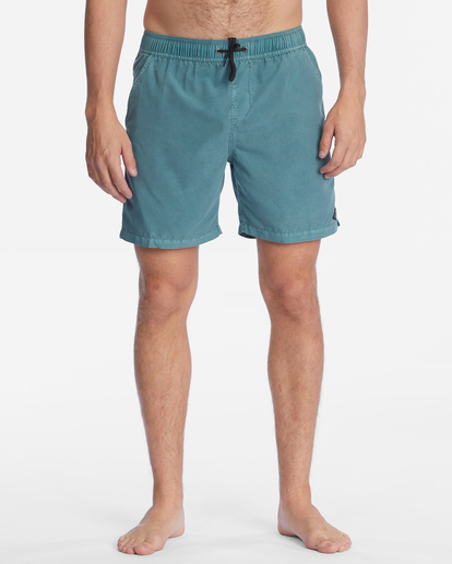 """4 All Day Overdyed Layback Boardshorts 17"""" Blue ABYBS00134 Billabong"""